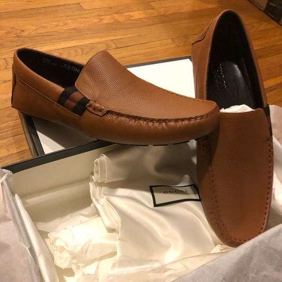 a94d73f12e2 New Authentic Gucci Leather Loafers Size 12